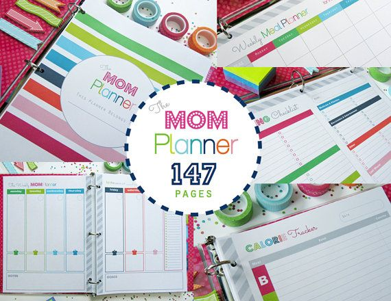 The MOM Planner 147 PDF Printable Pages Home Management Binder - INSTANT DOWNLOAD - with Unpersonalized Covers
