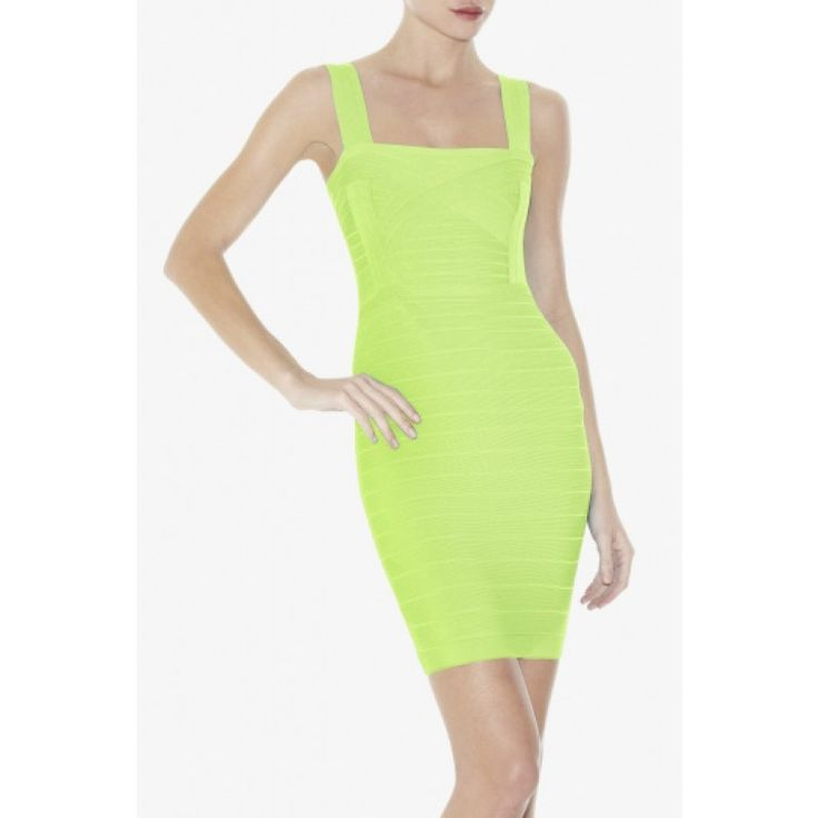 Herve Leger Apple Green Slip Bandage Dress HLC119 hunting for limited offer,no tax and free shipping.#dress #dresses #womenfashion #herveleger #hervelegerdresses