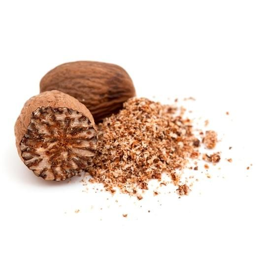 "Nutmeg Health Benefits   Nutmeg, the ""holiday"" spice, is another powerful antioxidant source. It's volatile oils are responsible for its aphrodisiac and curative properties. Its therapeutic uses include anti-fungal, anti-depressant, and digestive system stimulant."