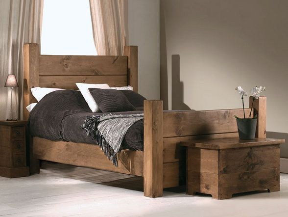 most favorite i think he super chunky and rustic plank wooden bed to