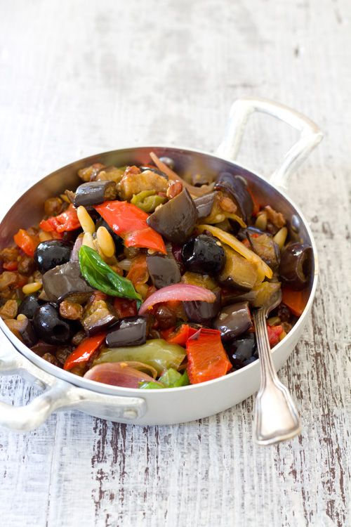 Caponata siciliana #caponata #italianfood #italianrecipes #sicilianfood #sicilianrecipes