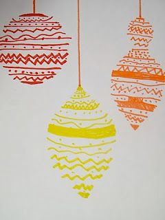 Christmas Bauble Drawings art project