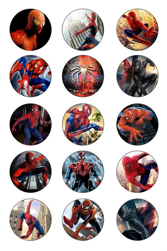 SPIDERMAN 1 inch Bottle Caps Images / Digital by GELATODESIGN, $1.50