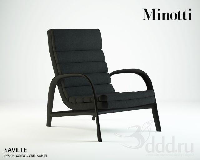 """PROFI"" Minotti / Saville 3dsMax 2011 + fbx (Vray) : Кресла : Файлы : 3D модели, уроки, текстуры, 3d max, Vray"