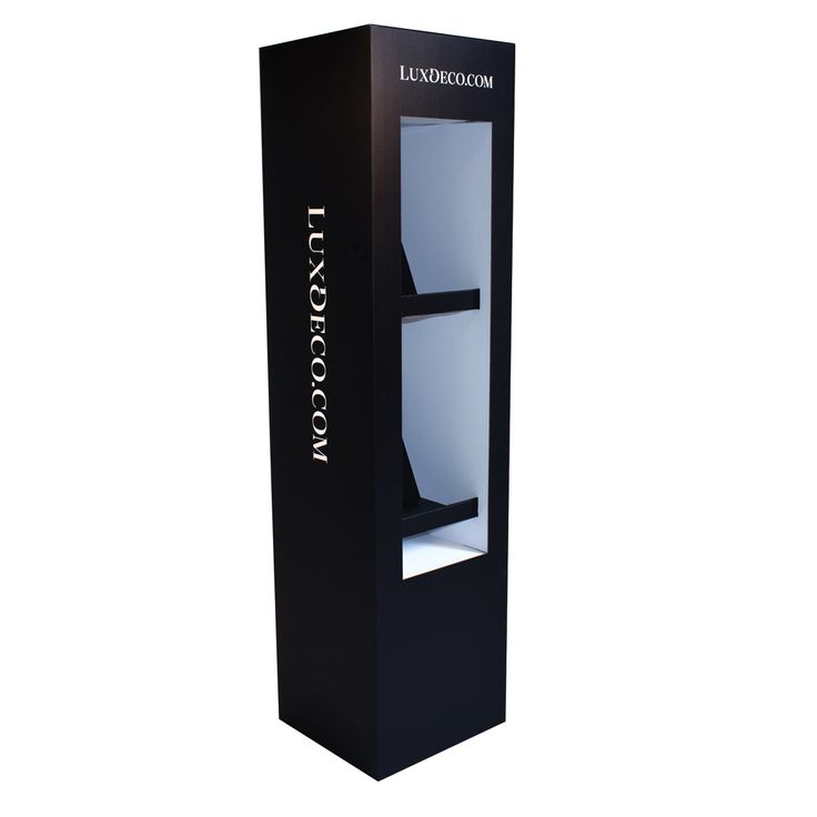 Alfriston Premium Brochure Stand  Premium, printed floor standing literature display, with 2 angled shelves for displaying company or product literature, newspapers or magazines.  Ideal for exhibitions, trade shows, showrooms, retail shops & shopping centres.  Large area for promotional printing Literature size 24.5cm x 16cm x 29cm (L x D x H) Supplied flat packed Easy assembly