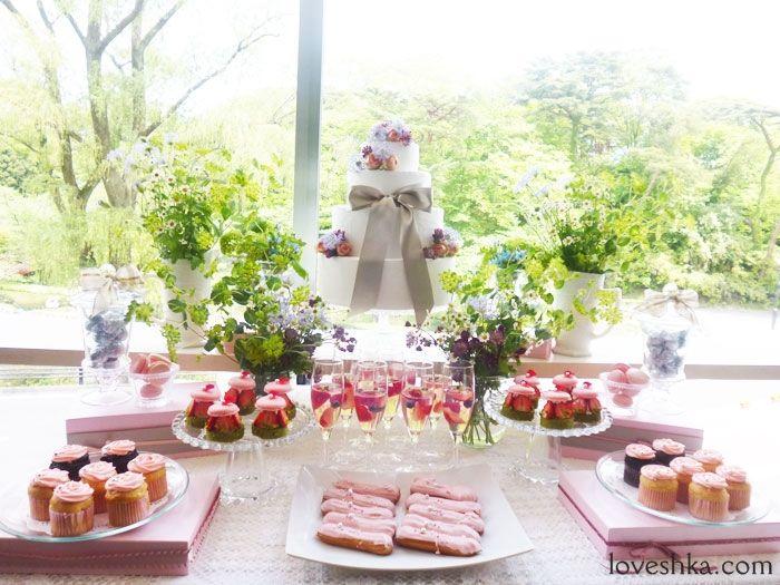 ピンク / デザートビュッフェ / ウェディング / 結婚式 / wedding / オリジナルウェディング / ラブーシュカ /プレ花嫁