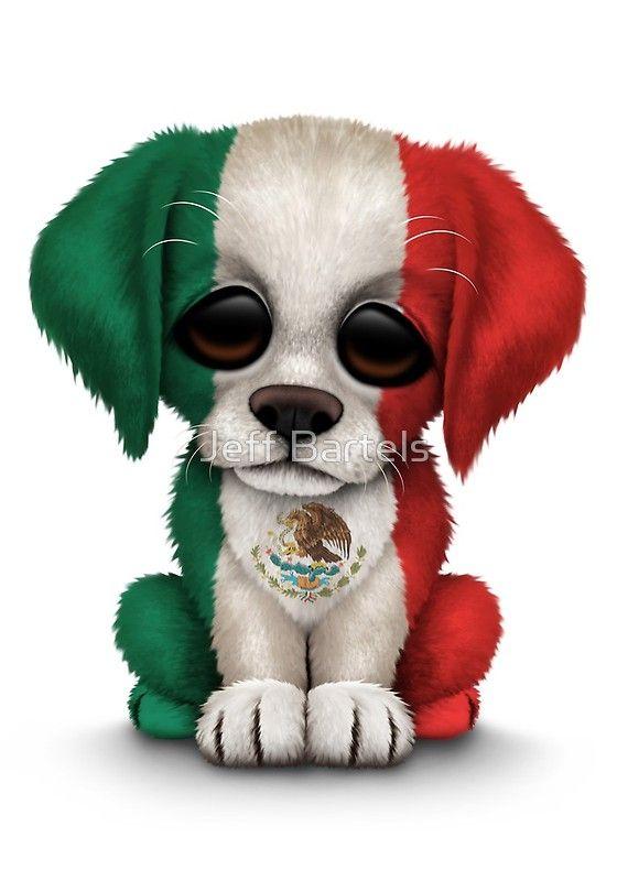 Este diseño adorable ofrece pequeño cachorro de perro con la bandera de México ligeramente inclinada hacia un lado. La cabeza de gran tamaño y un pequeño cuerpo, junto con los detalles en la piel de crear una hermosa combinación de un dibujo animado y el aspecto realista. Este perrito único y adorable es perfecto para los amantes del perro y una gran manera de mostrar su patriotismo mexicano. • Buy this artwork on apparel, stickers, phone cases y more.