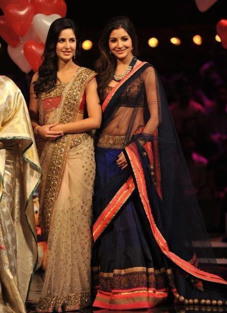Katrina Kaif and Anushka Sharma in beautiful sarees