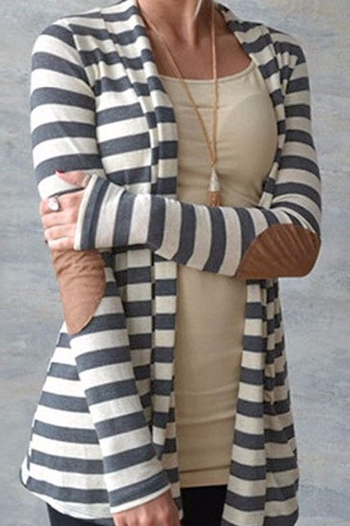Cupshe After Party Stripe Cardigan