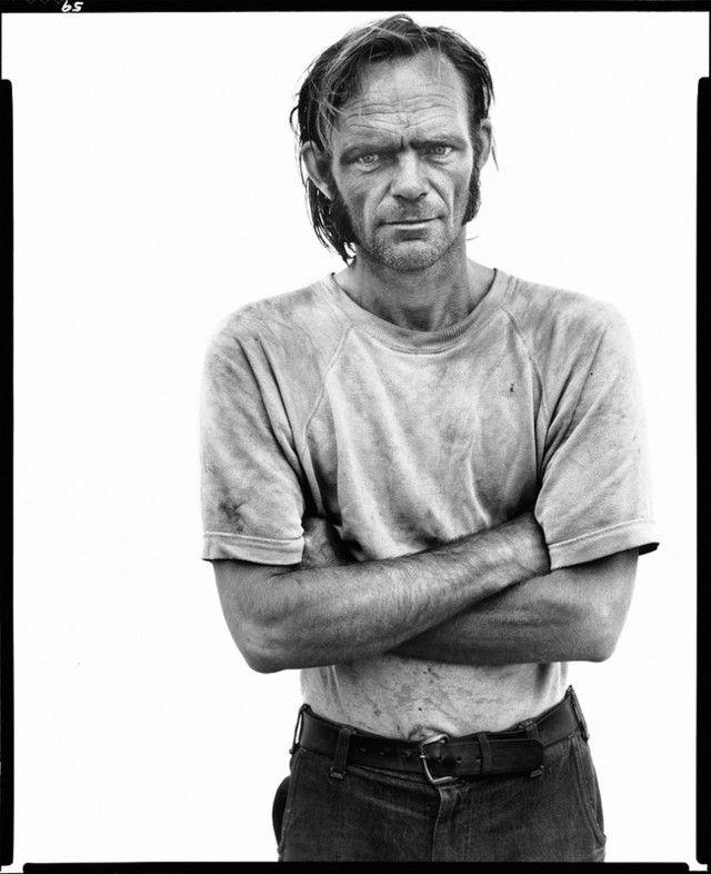 Richard Avedon, Bill Curry, drifter, Interstate 40, Yukon, Oklahoma, 6.16.80