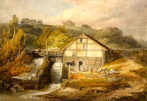 JMW Turner, A Watermill [Pembury] c.1796 on ArtStack #jmw-turner #museumweek