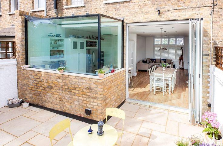 Best Aluminium Bi Fold Doors On Small Kitchen Renovation Flat 640 x 480