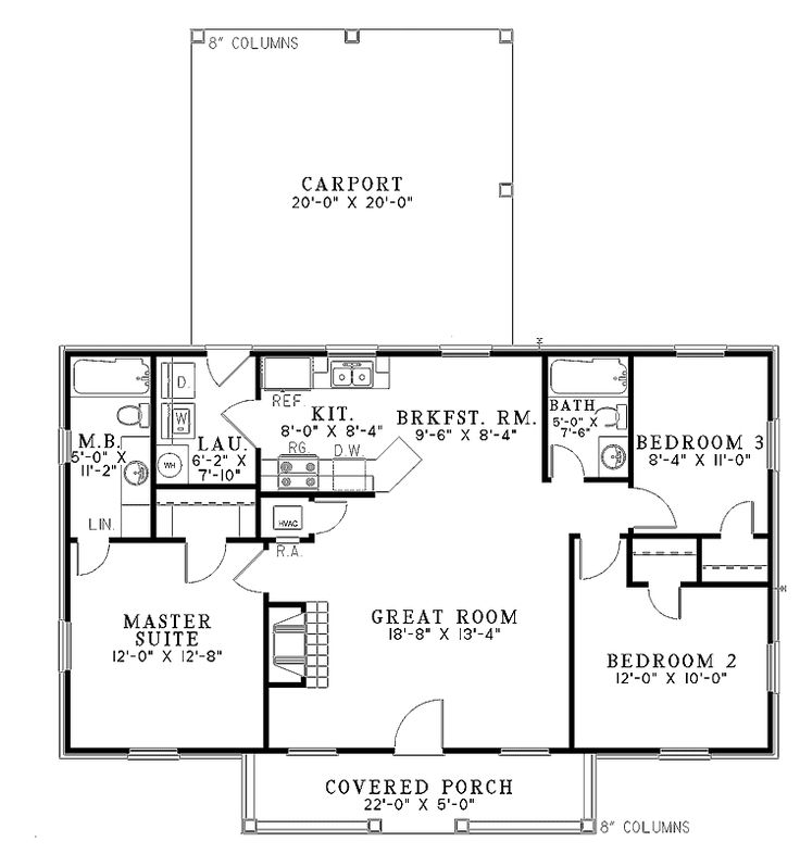 700 square foot house plans home plans homepw18841 for 1100 square feet floor plan