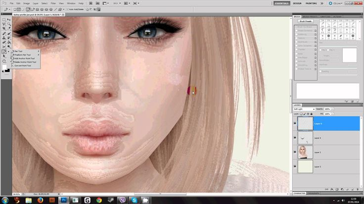 how to add highlights to skin in photoshop
