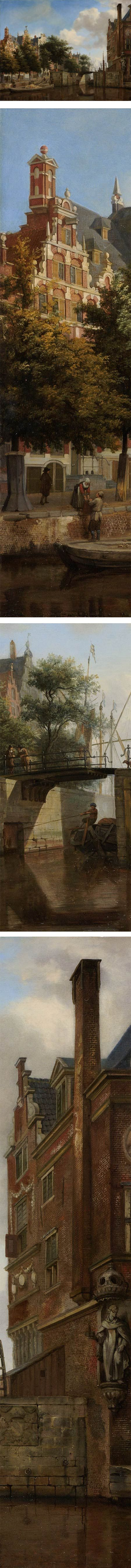Eye Candy for Today: Canal scene by Jan van der Heyden