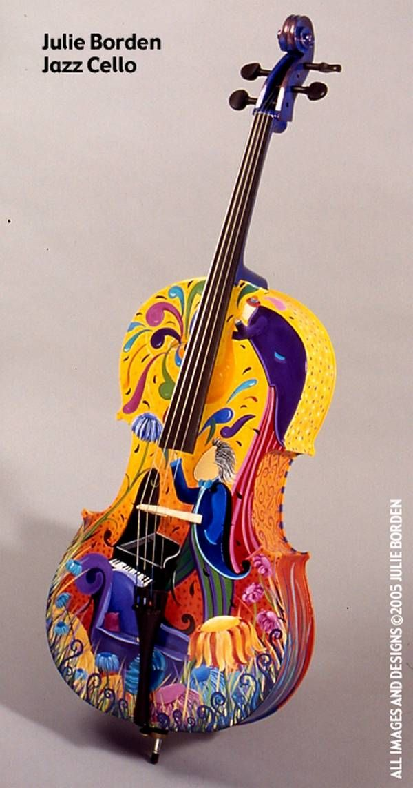 Masterfully Painted Violins (makes me think of fiesta in the philippine because of its colors ^^)