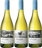 Sonoma Vineyards: черно-белые фото в дизайне винной этикетки