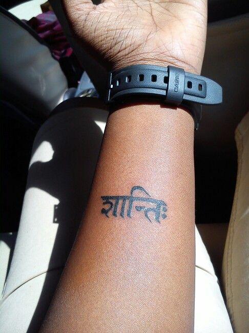 Shanthi. Sanskrit for Peace.