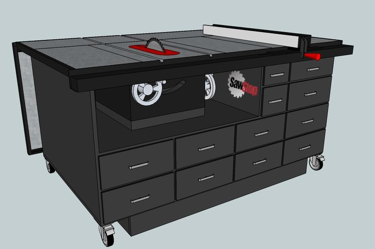 My cart design in sketchup out feed table down for Table design sketchup
