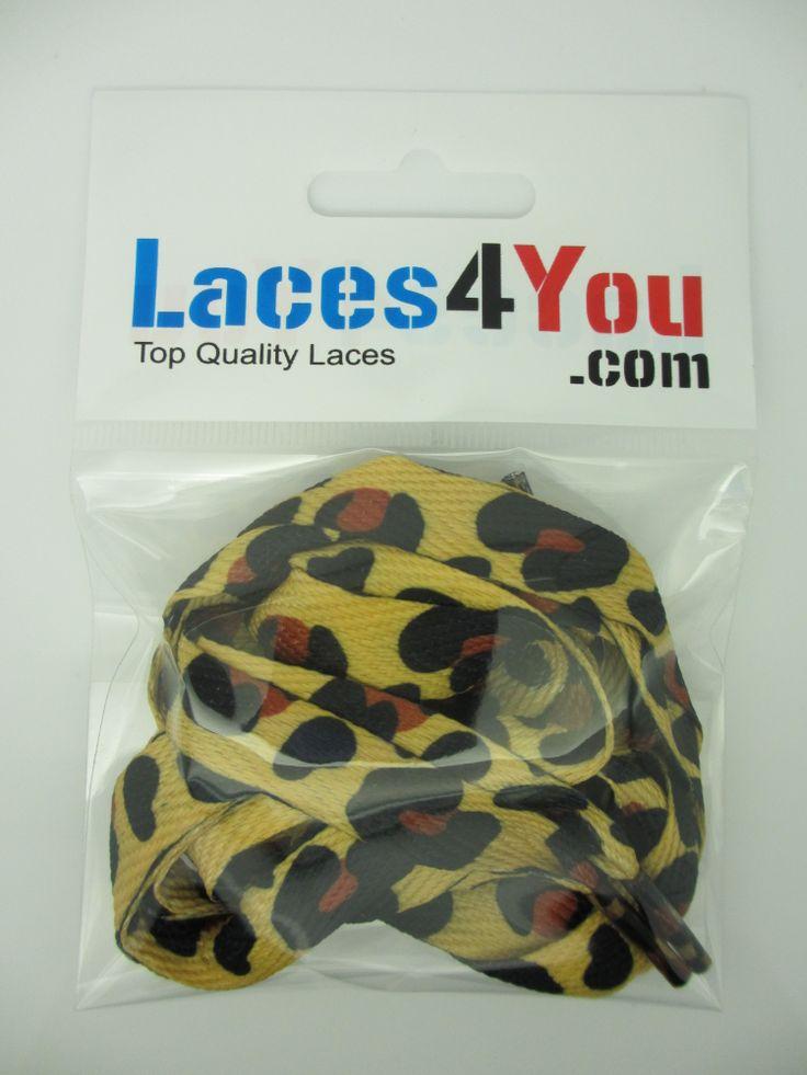 Yellow Zebra Print Laces.