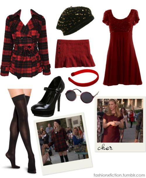 Fashion inspired by Cher from Clueless (1995). A US West Coast teen lifestyle parody centered around Cher, a popular high school girl who spends her days playing match-maker, helping her friends with fashion choices, and looking for a boyfriend. Cher Horowitz is spoiled but sweet, touch and clever. Living in a mansion, waited on by servants, and flaunting her wealth with fashion, shes the undisputed queen of Bronson Alcott High School. http://www.imdb.com/title/tt0112697
