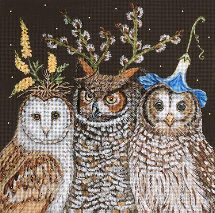 Melissa Shirley Designs | Hand Painted Needlepoint | Vicki Sawyer Owls