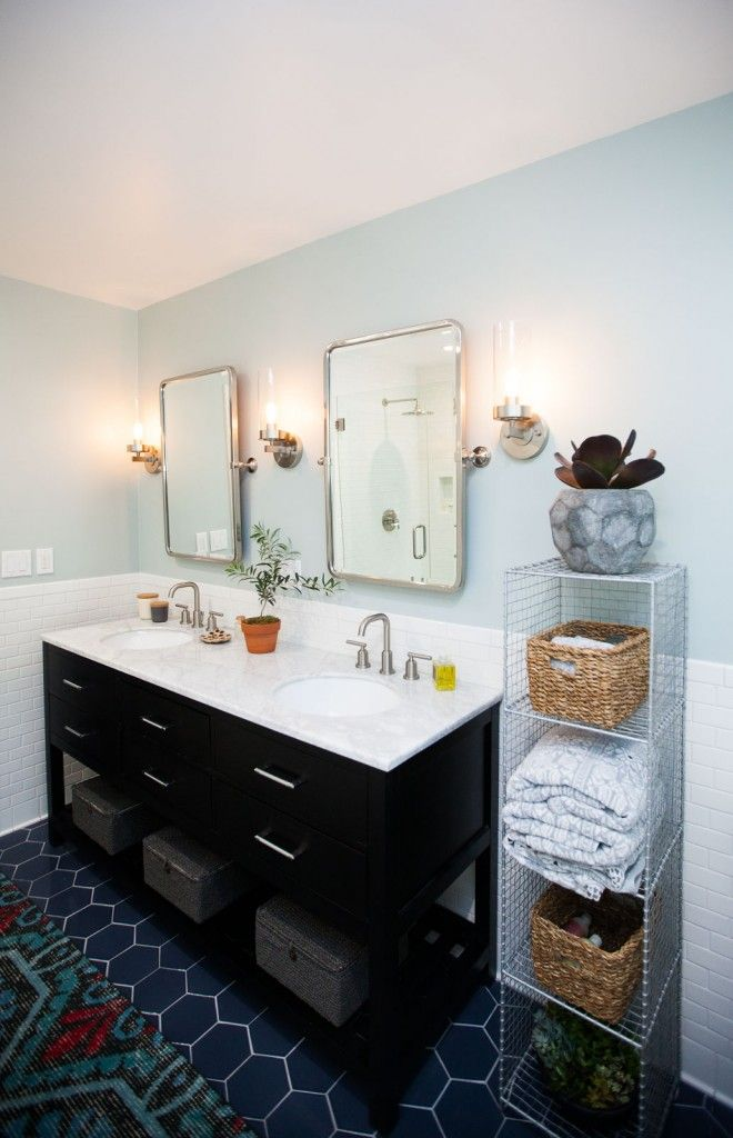 Master Bathroom Renovation // Before After--freestanding