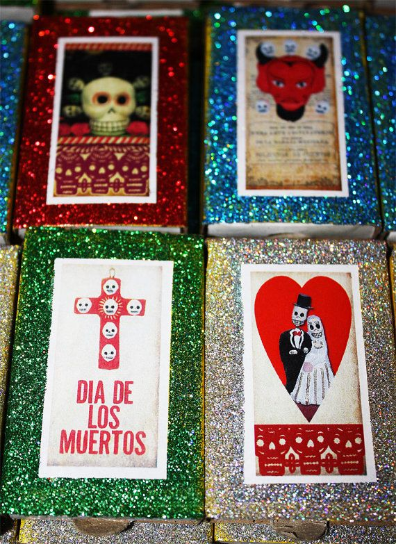 Day of the Dead Mexican Wedding Favors 100 Matchboxes by MyMercado, $129.95