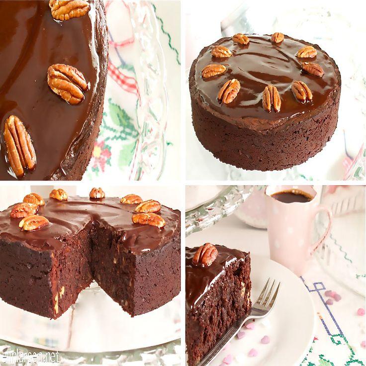 Sjokoladekake med pekannøtter (glutenfree)