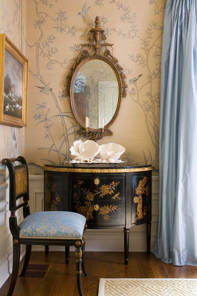 200 best interior design chinoiserie images on pinterest for Chinoiserie design