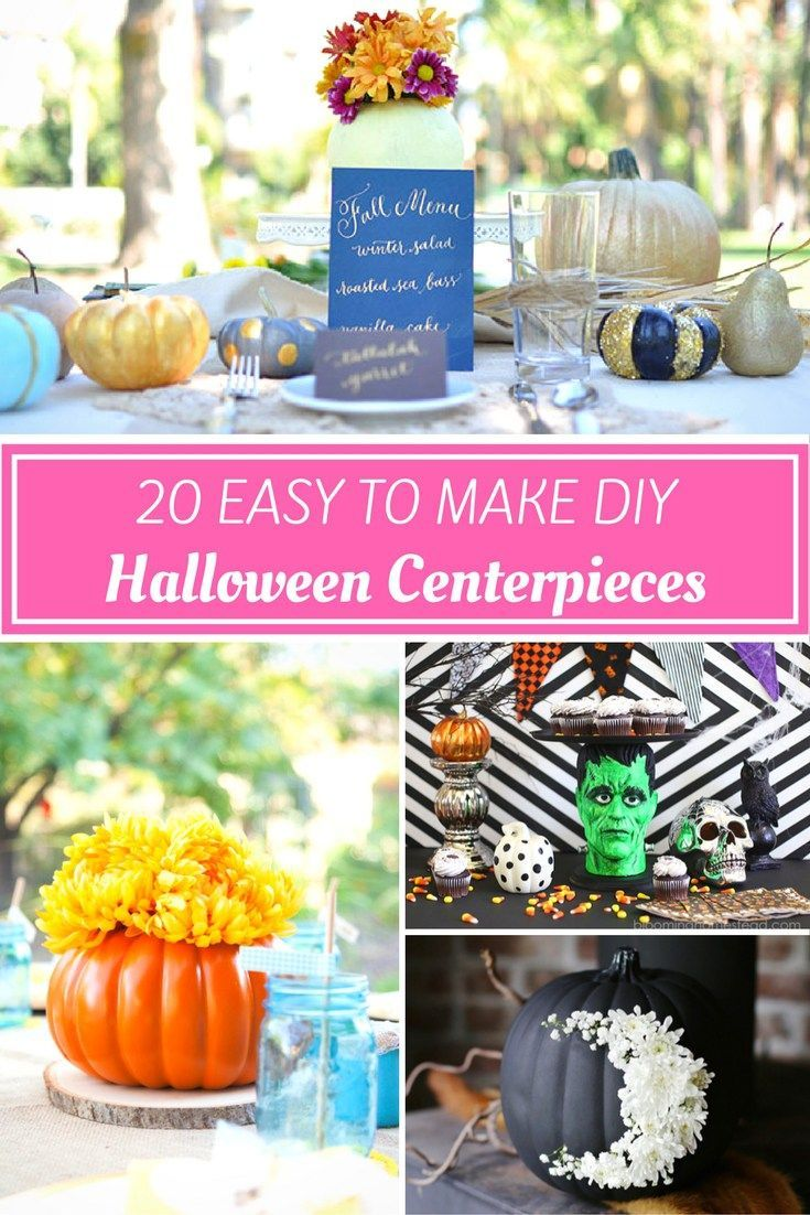 ... Halloween holiday season? Get 30 Easy to Make Halloween Centerpieces