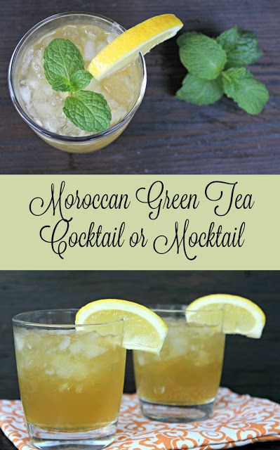Moroccan Green Tea Cocktail or Mocktail | Everything Pretty via www.yourbeautyblog.com