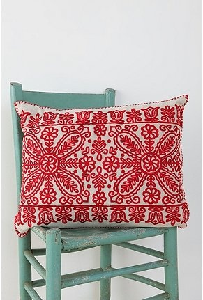 {cottage embroidery pillow}