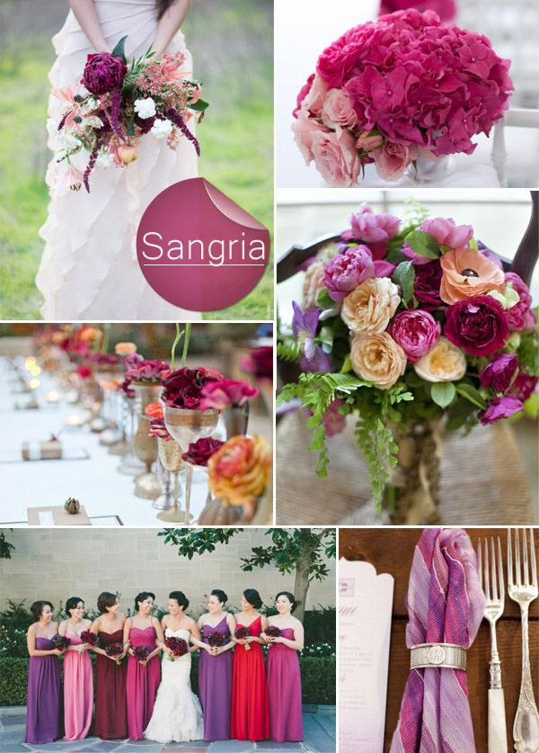Top 10 Pantone Fall Wedding Colors 2014 Trends- those wedding color ideas are what i want! but i have the same colors different style bridesmaid dresses, loooove the bouquets! where can i get that bouquet plz?????