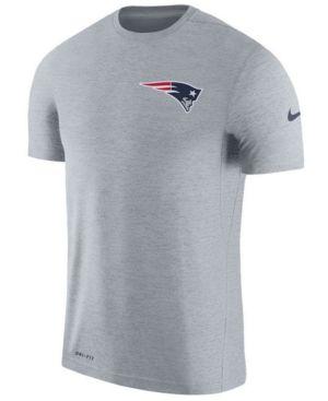 Nike Men's New England Patriots Coaches T-shirt - Gray XXL