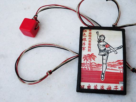Lin's dance  ooak clay frame pendant with print plastic by Joogr, €20.00