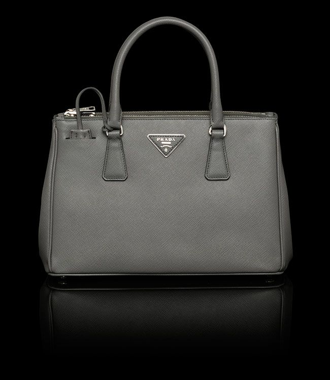 Prada Saffiano Leather Tote Handbag - Grey Marble. | Handbags ...