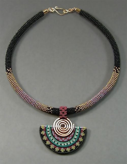 "Joan Babcock Jewelry - ""Spiral Fan Collar"""