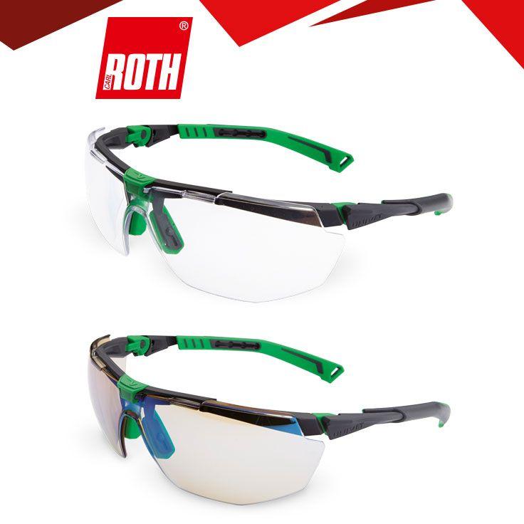 Schutzbrillen 5X3 Gem. EN 166, EN 170. Hochentwickelter Rahmen, um Druckpunkte im Gesicht zu minimieren, passt sich jedem Gesicht ohne Einstellungen optimal an.