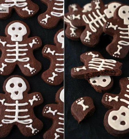 Esqueletos de chocolate. Receta de galletas para Halloween
