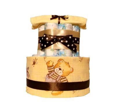 Plienková torta macko žltý