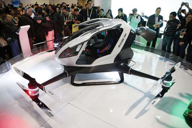 Autonomous Single Passenger Electric Drone Unveiled At CES