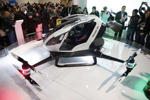 Autonomous Single Passenger Electric Drone Unveiled At CES