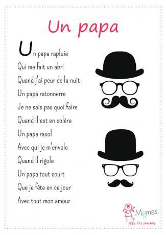 French Father's Day nursery rhyme: une comptine pour la fête des pères