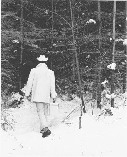 Bílý žebrák – cyklus   fotografie   97 x 78 cm   1993
