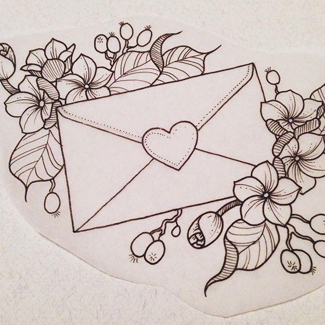 Love letter tattoo design