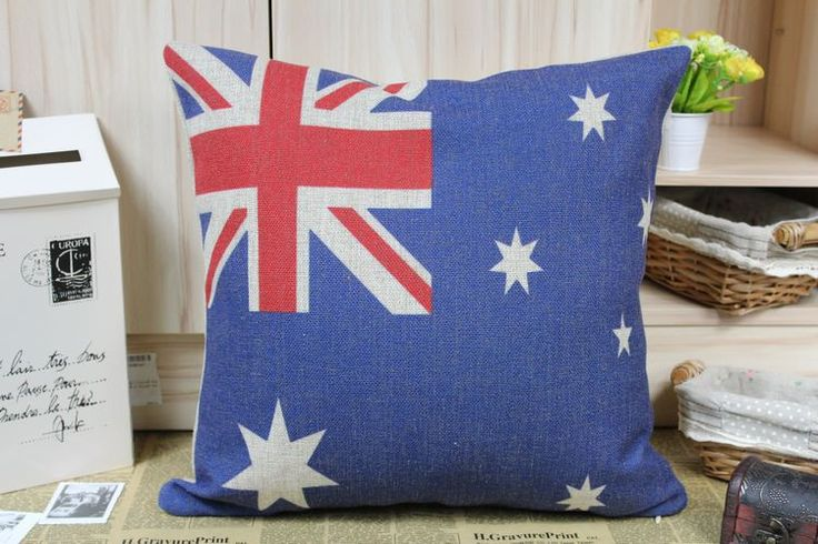 Flag pillow cover, Australian National Flag union Jack star throw pillow case pillowcase wholesale #Affiliate