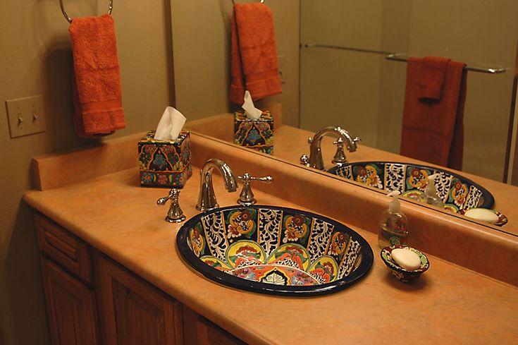 Talavera sink google search bathroom pinterest king kind of and what kind of - Bathroom tiles talavera ...