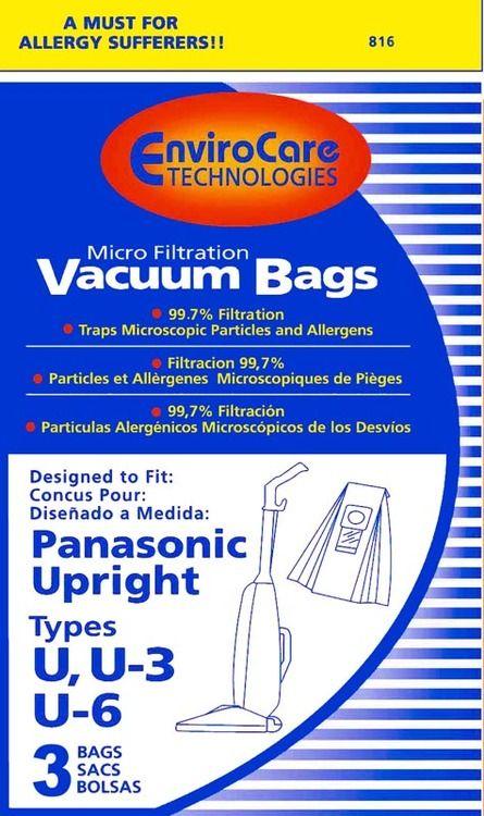 Type U and U-3 Panasonic Vacuum Cleaner Replacement Bag (3 Pack) by Panasonic
