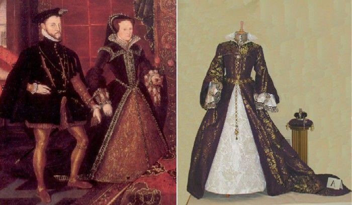 В 1554 году английская королева Мария I, дочь Генриха VIII и Катерины Арагонской, вышла замуж за испанского принца, будущего короля Филиппа IV.